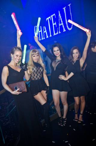 Penthouse Pets Nicole Aniston, Lexi Belle, Vanessa Veracruz and Abigail Mac at Chateau on Saturday, Jan. 18, 2014, in Paris Las Vegas.