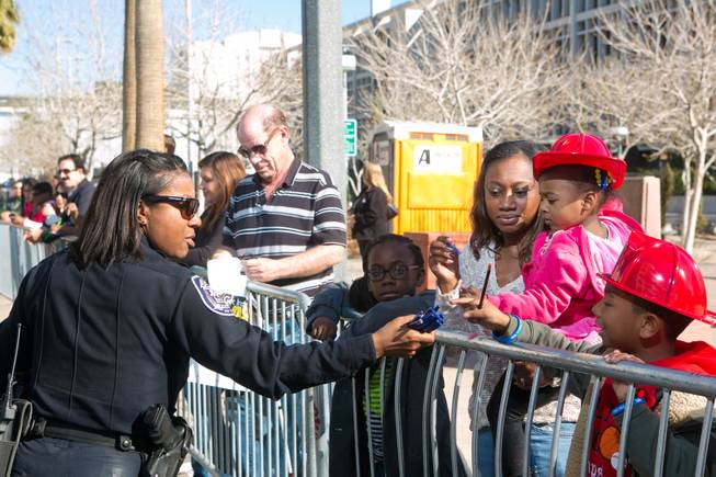 Members of the National Black Police Association, Inc. participate in the 32nd Annual Dr. Martin Luther King Jr. Parade, Monday Jan. 20, 2014.