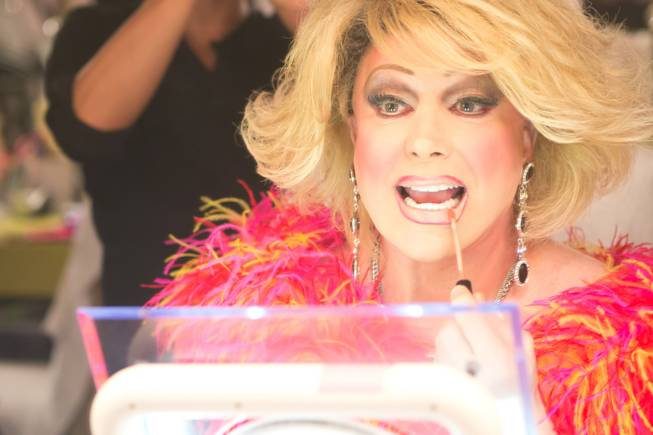 Las Vegas headliner Frank Marino transforms himself into Joan Rivers for his return to the stage after his most recent plastic surgery procedure Jan 20, 2014 at the Quad.