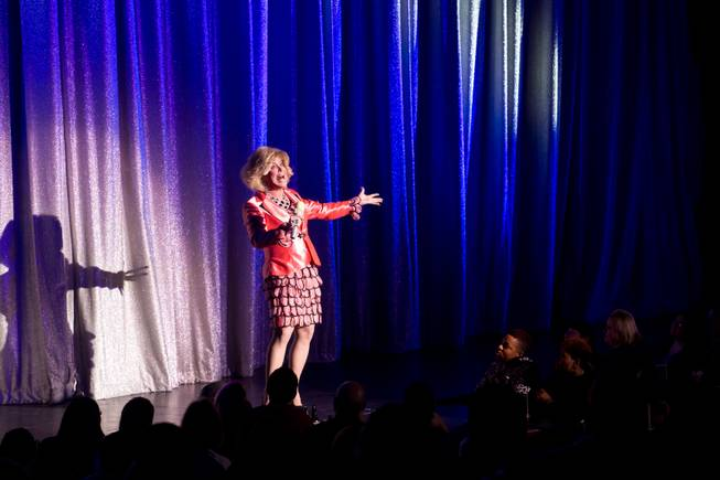 Las Vegas headliner Frank Marino returns to the Divas' stage as Joan Rivers at the Quad in his debut performance after undergoing his most recent plastic surgery procedure Jan. 20, 2014.