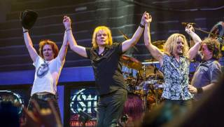 Styx rocks Pearl at the Palms on Sunday, Jan. 19, 2014, in Las Vegas.