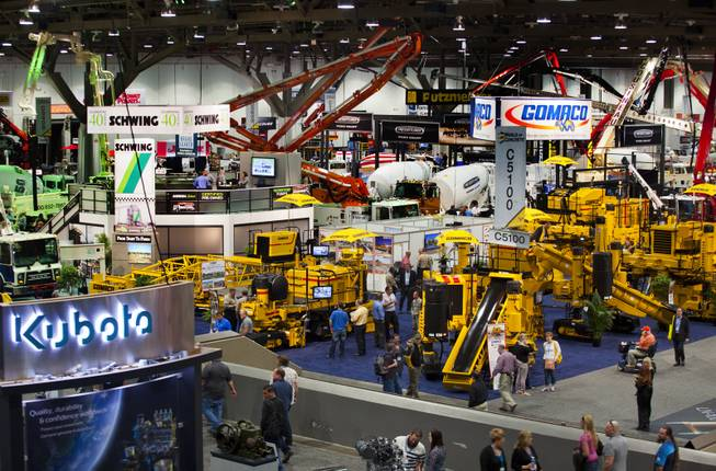 The 40th anniversary of the World Of Concrete attracts thousands to the industrys only annual international event dedicated to the commercial concrete and masonry construction industries at the Las Vegas Convention Center on Wednesday, Jan. 22, 2014.