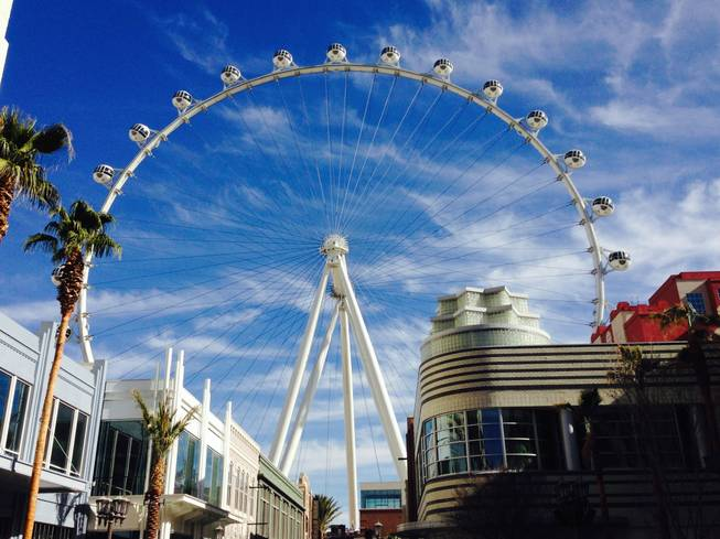 The High Roller observation wheel at the Linq as seen during a hard hat tour Wednesday, Jan. 22, 2014.