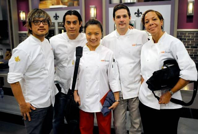 "Las Vegas chef Shirley Chung, center, has made the finals of Season 11 of ""Top Chef"" in New Orleans."