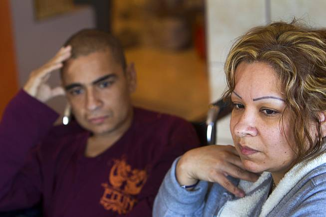 Francisco Diaz and his sister Jacqueline in Mexicali, Mexico Saturday, Jan. 25, 2014. His niece Priscilla looks on at left. Diaz was born in Mexico but grew up in Las Vegas with a green card.