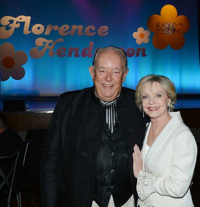 Robin Leach and Florence Henderson at Nevada Ballet Theater's 30th anniversary Black & White Ball honoring Henderson on Saturday, Jan. 25, 2014, in Aria.