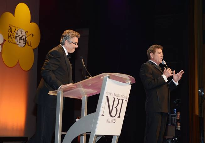 Christopher Knight and Barry Williams attend Nevada Ballet Theater's 2014 Woman of the Year awards and 30th Anniversary Black & White Ball honoring Florence Henderson on Saturday, Jan. 25, 2014, in Aria.
