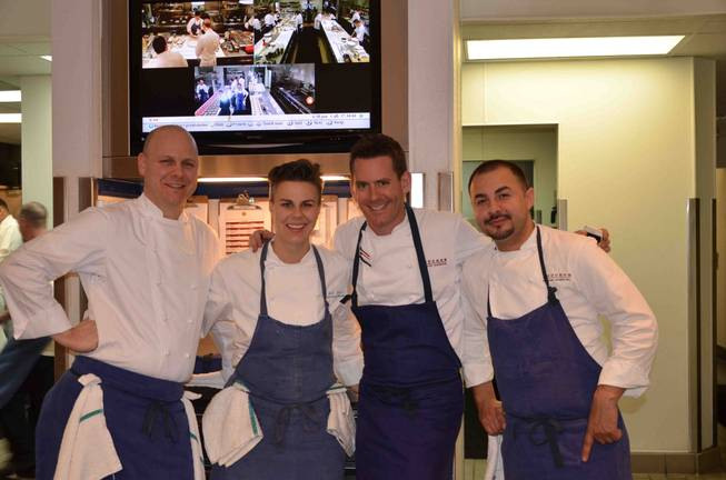 The 10th-anniversary celebration of Bouchon by chef Thomas Keller in ...