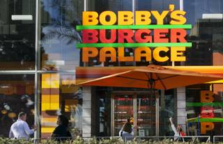 Chef Bobby Flay's Bobby's Burger Palace opens Wednesday, Jan. 29, 2014, on the Strip in Las Vegas.