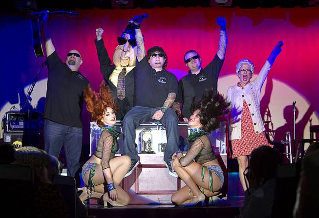 "Cast members of ""Pawn Shop Live!"" perform at the Golden Nugget Thursday, Jan. 30, 2014. The production show is a parody based on the story of Gold & Silver Pawn, home of the History Channel's Pawn Stars television series."