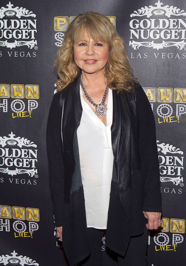 "Actress/singer Pia Zadora poses on the red carpet after attending a performance of ""Pawn Shop Live!"" at the Golden Nugget Thursday, Jan. 30, 2014. The production show is a parody based on the story of Gold & Silver Pawn, home of the History Channel's Pawn Stars television series."