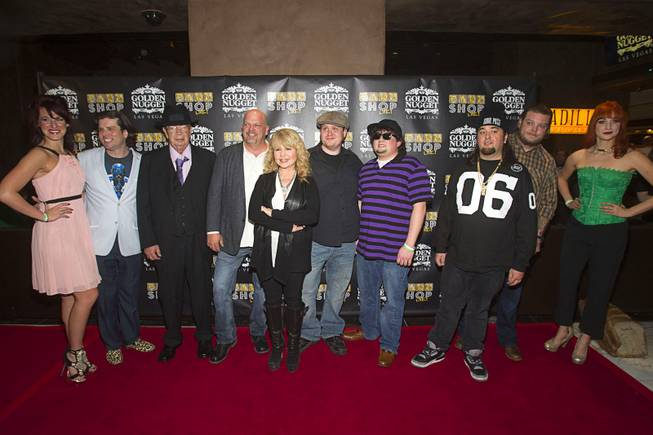 "Cast members of ""Pawn Shop Live!"", members of Pawn Stars, and guests, including Pia Zadora, center, pose on the red carpet after attending a performance of ""Pawn Shop Live!"" at the Golden Nugget Thursday, Jan. 30, 2014. The production show is a parody based on the story of Gold & Silver Pawn, home of the History Channel's Pawn Stars television series."