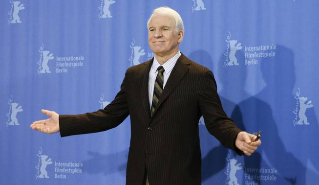 "U.S. actor Steve Martin poses during a photo-call for the movie ""Pink Panther 2 "" at the Berlinale in Berlin, Germany, Friday, Feb. 13, 2009. The 59th International Film Festival Berlin takes place in the German capital from Feb. 5 until Feb. 15, 2009."