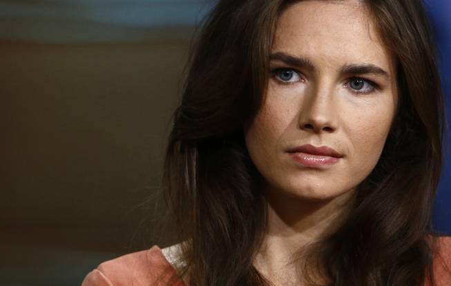 "This image released by NBC shows Amanda Knox during an interview on the ""Today"" show, Friday, Sept. 20, 2013, in New York."