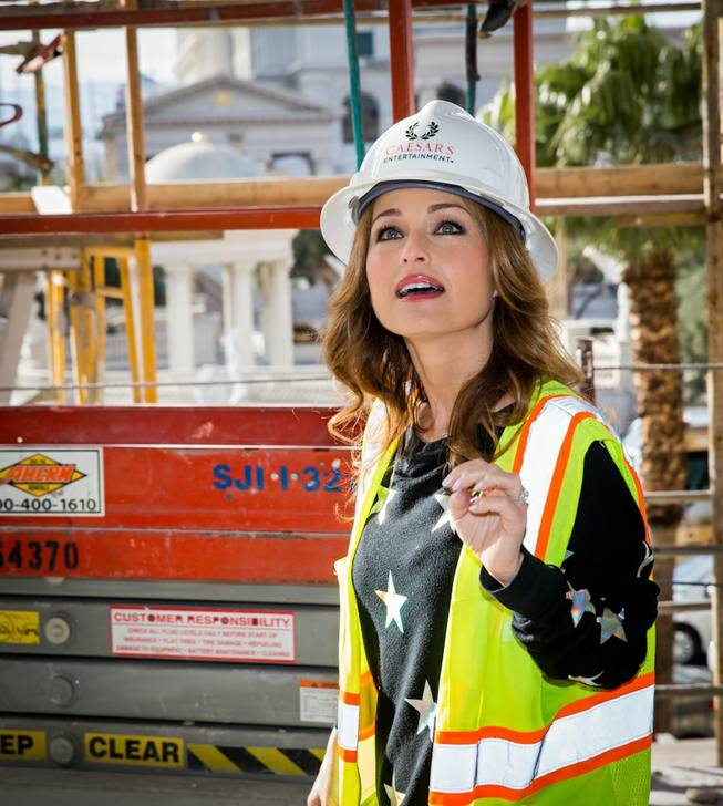 Chef Giada De Laurentiis tours Giada, her restaurant scheduled to open this spring, on Monday, Jan. 27, 2014, at The Cromwell.