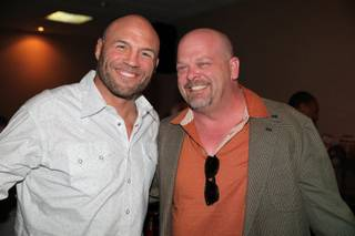 Randy Couture and Rick Harrison at The D Las Vegas.