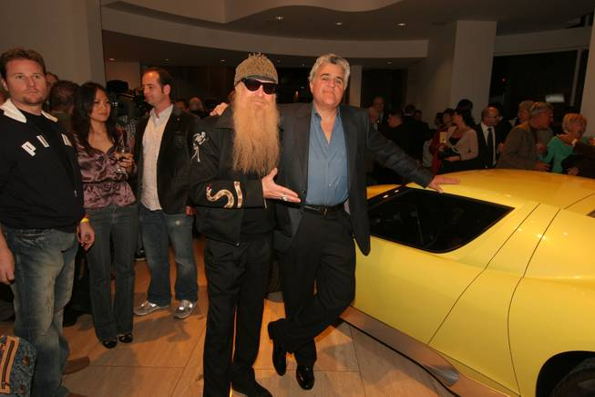 The new 2006 Lamborghini Miura Concept on display at the Museum of Television & Radio in Beverly Hills, CA for auto enthusiasts and industry insiders including fellow car collectors Tonight Show Host Jay Leno and Billy Gibbons from the rock band ZZ Top.