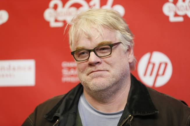 "Cast member Philip Seymour Hoffman at the premiere of ""A Most Wanted Man"" during the 2014 Sundance Film Festival on Sunday, Jan. 19, 2014, in Park City, Utah."