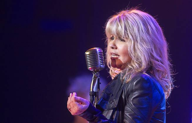 "Singer and actress Pia Zadora performs during a guest stint in ""Million Dollar Quartet"" on Tuesday, Feb. 4, 2014, at Harrah's."
