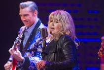"Singer and actress Pia Zadora during a guest performance in ""Million Dollar Quartet"" at Harrah's on Tuesday, Feb. 4, 2014."
