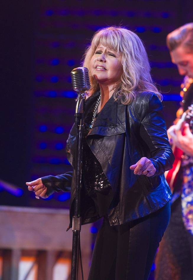 "Singer/actress Pia Zadora performs during a guest performance in ""Million Dollar Quartet"" at Harrah's Tuesday, Feb. 4, 2014."