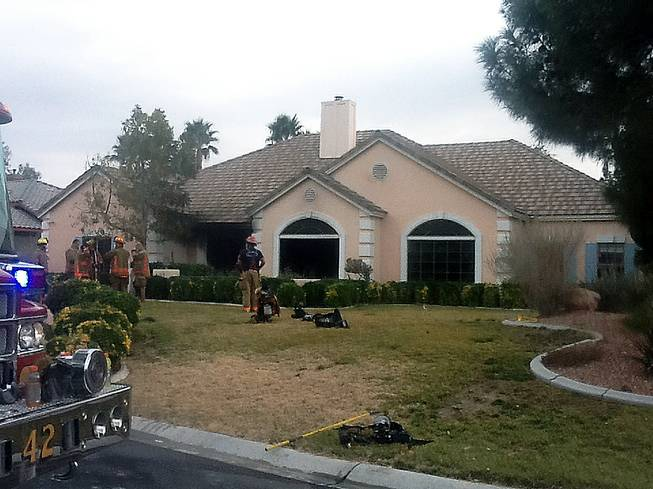 A fire at this home in the 8100 block of Yucca Springs Drive caused an estimated $175,000 worth of damage.