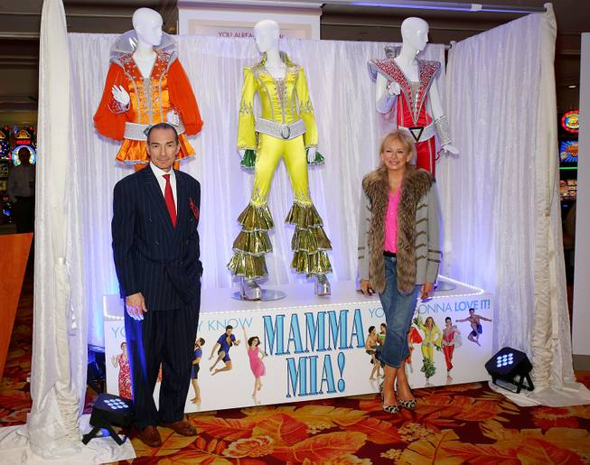 "Alex Yemenidjian, CEO of the Tropicana, and Judy Craymer, worldwide producer of ""Mamma Mia!,"" at a press conference Wednesday, Feb. 5, 2014, at the Tropicana."