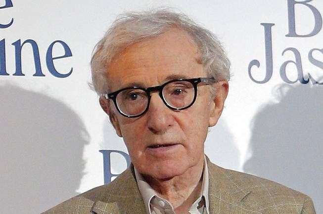 "This Aug. 27, 2013, file photo shows director and actor Woody Allen at the French premiere of ""Blue Jasmine"" in Paris."