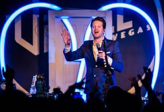 Mayer Hawthorne at Vinyl on Saturday, Feb. 8, 2014, in the Hard Rock Hotel Las Vegas.