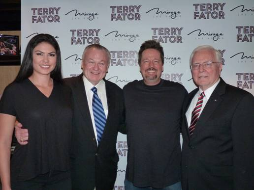 Terry Fator and his wife, Taylor Makakoa, are honored by ...