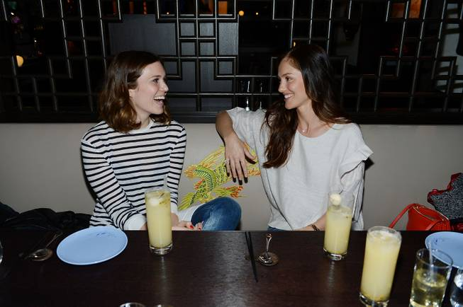Mandy Moore and Minka Kelly at Hakkasan on Saturday, Feb. 8, 2014, in MGM Grand.