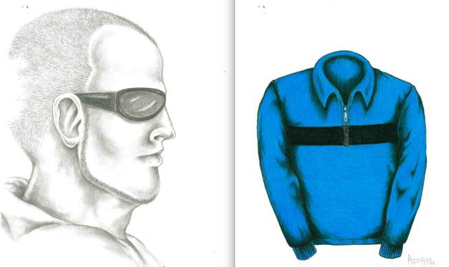 Here are composite sketches of the man suspected in a series of gropings of teenage girls in the southeastern valley (left) and the jacket he has frequently worn during the incidents.