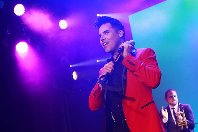 Frankie Moreno performs in the showroom at the Stratosphere on Tuesday, Feb. 11, 2014.