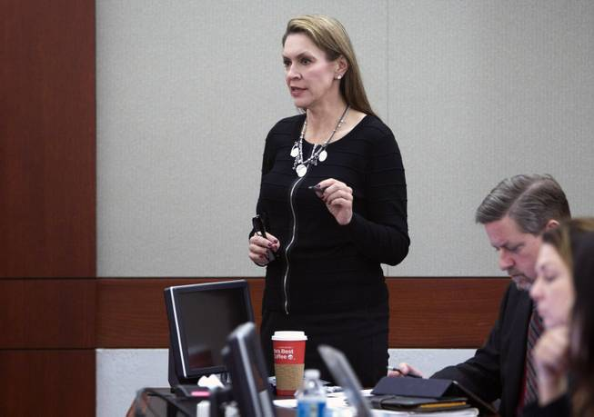 Attorney Elizabeth Quillin speaks to Judge Linda Marie Bell on behalf of a client during DUI Court at the Clark County Regional Justice Center Wednesday, Feb. 12, 2014. STEVE MARCUS