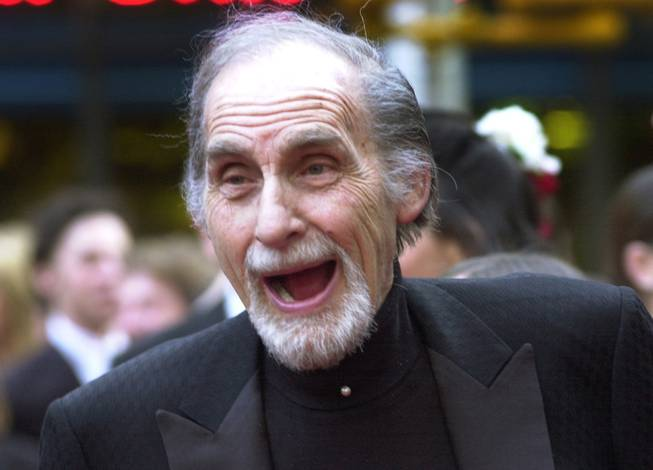 "FILE - In this May 5, 2002 file photo, Sid Caesar, of ""Your Show of Shows,"" arrives at NBC's 75th anniversary celebration in New York. Caesar, whose sketches lit up 1950s television with zany humor, died Wednesday, Feb. 12, 2014. He was 91."