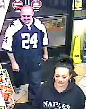 Police released this surveillance camera image of two robbers accused of beating a store clerk early Tuesday, Feb. 11, 2014, at Pyle Avenue and Maryland Parkway.