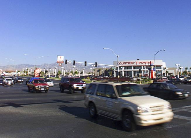 Morning commuters make their way through the intersection at Rainbow Boulevard and Sahara Avenue Wednesday, June 30, 1999. A recent study has named the intersection one of the most dangerous in the country.