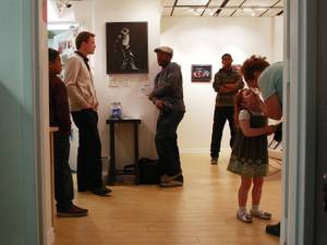 The opening of African American Showcase is seen Saturday, Feb. 15, 2014 at Tastyspace Gallery.