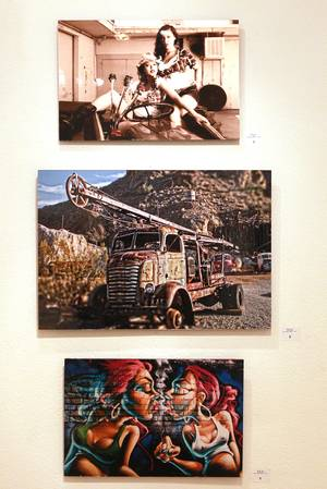 Three photos by Wesley Vonn are seen at the African American Showcase Saturday, Feb. 15, 2014 at Tastyspace Gallery.