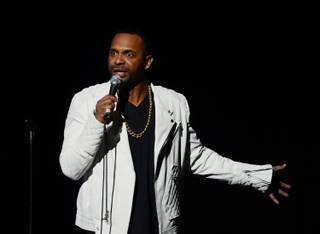 Comedian Mike Epps performs at Pearl at the Palms on Saturday, Feb. 15, 2014.