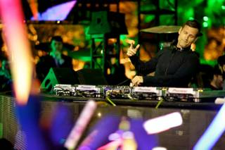 The fifth-anniversary celebration of XS with DJ Kaskade on Saturday, Feb. 15, 2014, in Encore.