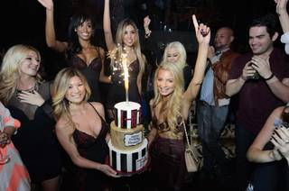 Havana Brown celebrates her 29th birthday at Tao on Saturday, Feb. 15, 2014, in the Venetian.