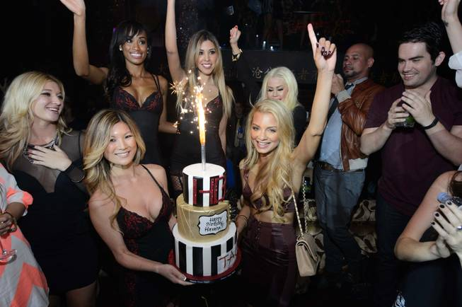 Havana Brown celebrates her 29th birthday at Tao on Saturday, ...