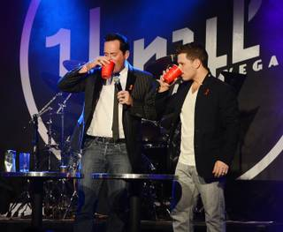 "Anthony Cools and Mark Shunock perform during Shunock's ""Mondays Dark,"" benefiting St. Therese Center/HIV Outreach, at Vinyl on Monday, Feb. 17, 2014, at Hard Rock Hotel Las Vegas."