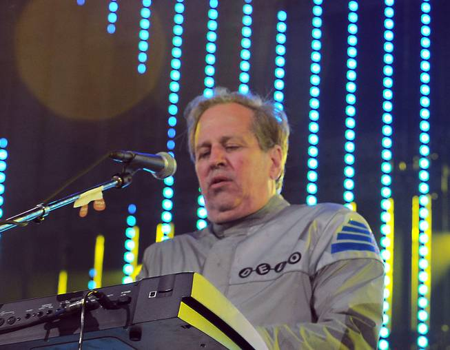 "This June 5, 2010, file photo shows Bob Casale performing live at The 2010 KROQ Weenie Roast in Irvine, Calif. Casale, of the band Devo best known for the 1980s hit ""Whip It,"" died Monday, Feb. 17, 2014, from conditions that led to heart failure, his brother and band member Gerald Casale said."