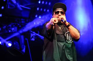 Ice Cube performs at Hakkasan on Tuesday, Feb. 18, 2014, in MGM Grand Las Vegas.