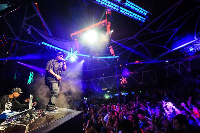 Ice Cube performs at Hakkasan on Tuesday, Feb. 18, 2014, ...