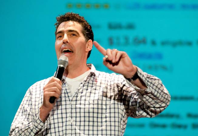 In this photo provided by the South Beach Comedy Festival, comedian Adam Carolla performs during the South Beach Comedy Festival at Colony Theater in Miami Beach, Thursday, March 3, 2011.