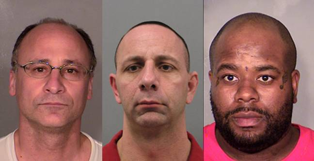 Police in the Las Vegas Valley have arrested these three men, all on counts of impersonating a police officer, since Jan. 30, 2014. The three are, from left, Mark PIcozzi, 48; Lawrence DiVitro, 44; and Robbie English, 31.
