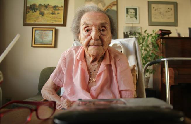 "This photo dated July 2010 made available by the makers of the Oscar-nominated documentary ""The Lady in Number 6,"" in which she tells her story, shows Alice Herz-Sommer, believed to be the oldest-known survivor of the Holocaust, who died in London on Sunday morning at the age of 110. Herz-Sommer's devotion to the piano and to her son sustained her through two years in a Nazi prison camp."